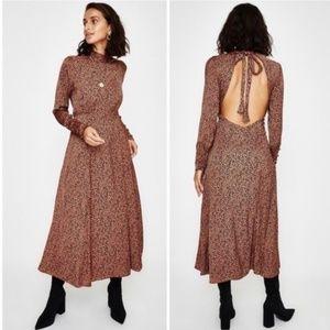 Free People NWT Loveless Cocoa Cheetah Slip Dress